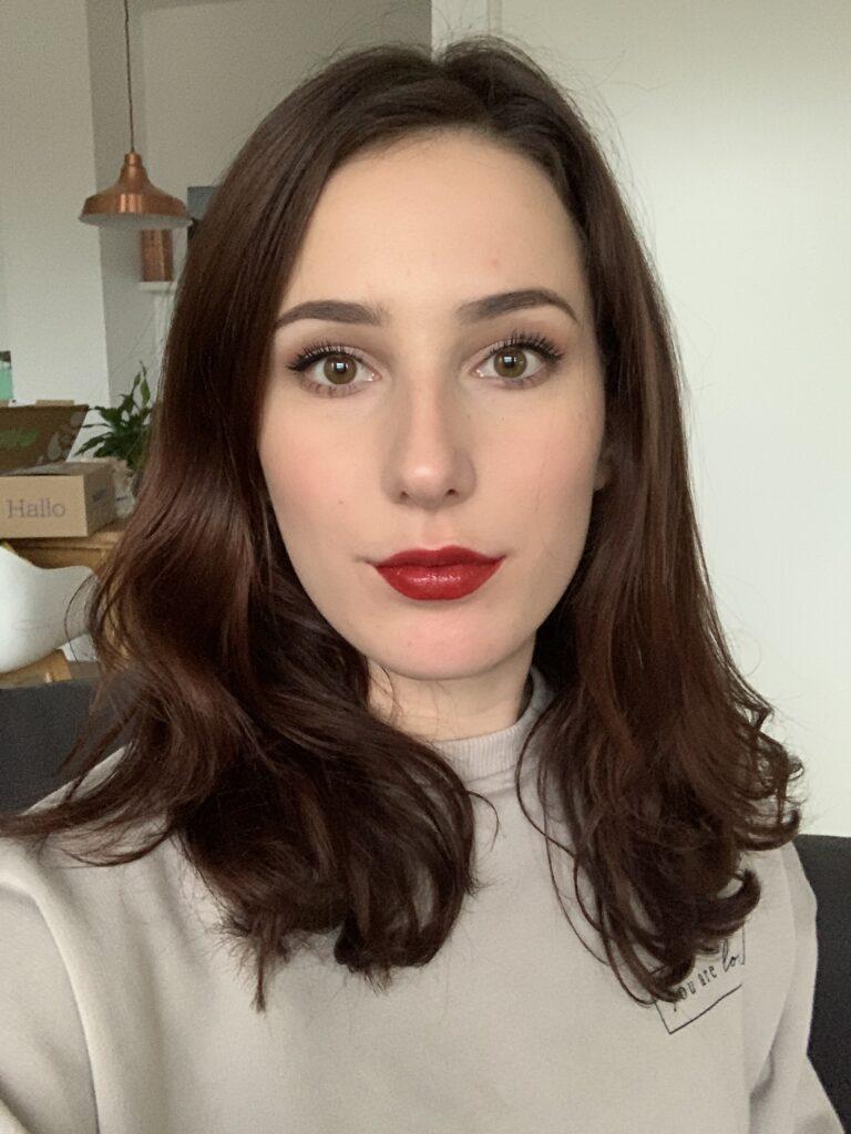 donkerrode lipstick