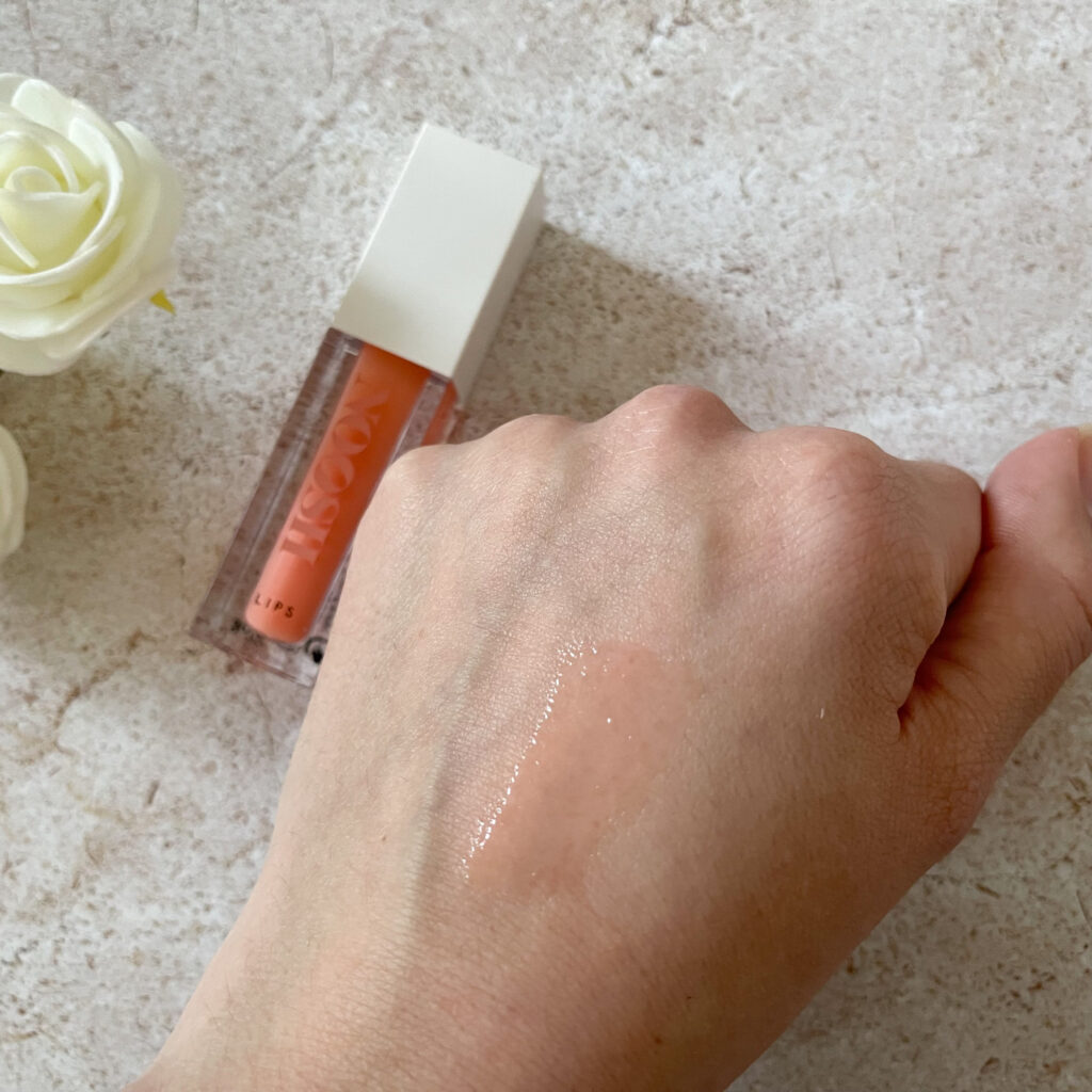 swatch rosebud lip gloss noosh beauty